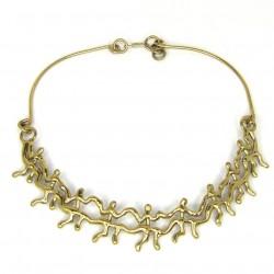 352 Little Men Brass Necklace