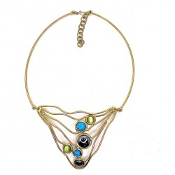 057 Star Necklace, HE,TQ,GR