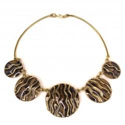 182 Necklace brass
