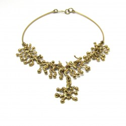 410 Brass Coral Necklace